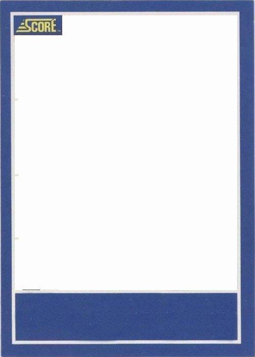Printable Baseball Card Template New Baseball Card Template
