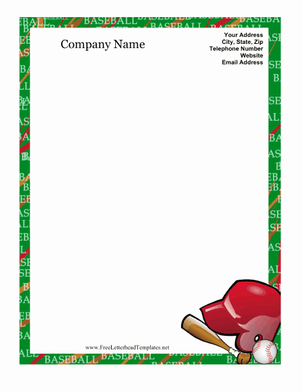 Printable Baseball Card Template Unique Best S Of Baseball Templates for Word Baseball