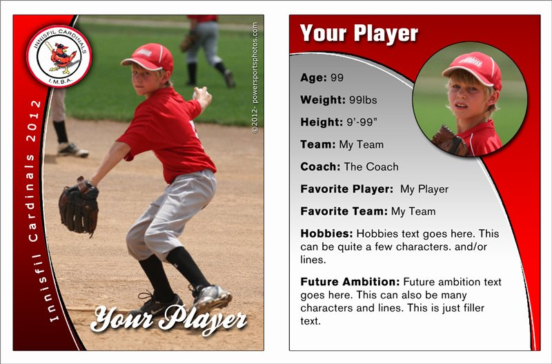 Printable Baseball Card Template Unique Free Baseball Card Template