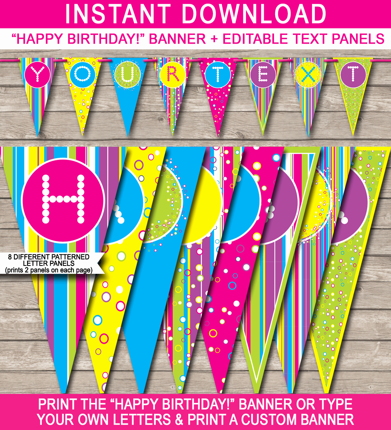 Printable Birthday Banner Template Fresh Colorful Banner Template