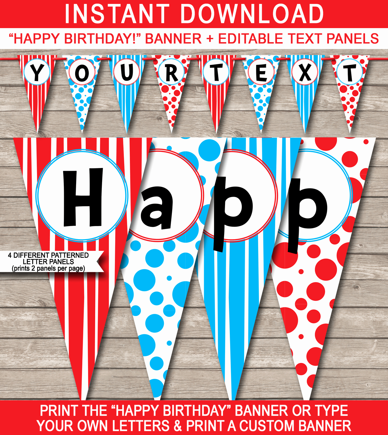 Printable Birthday Banner Template Inspirational Dr Seuss Party Banner Template