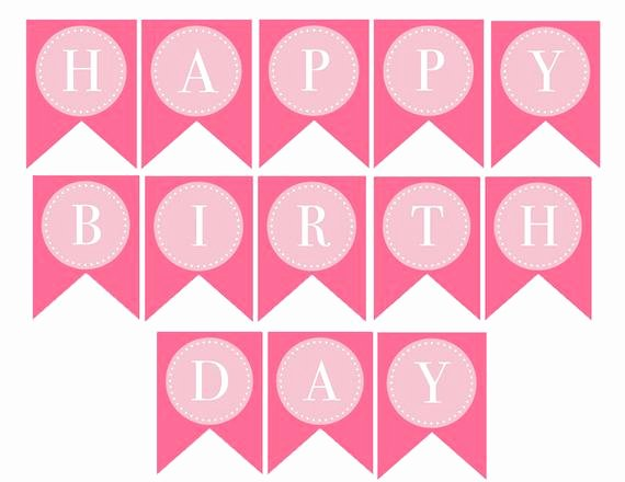 Printable Birthday Banner Template Luxury Instant Download Donuts & Dots Printable Happy Birthday