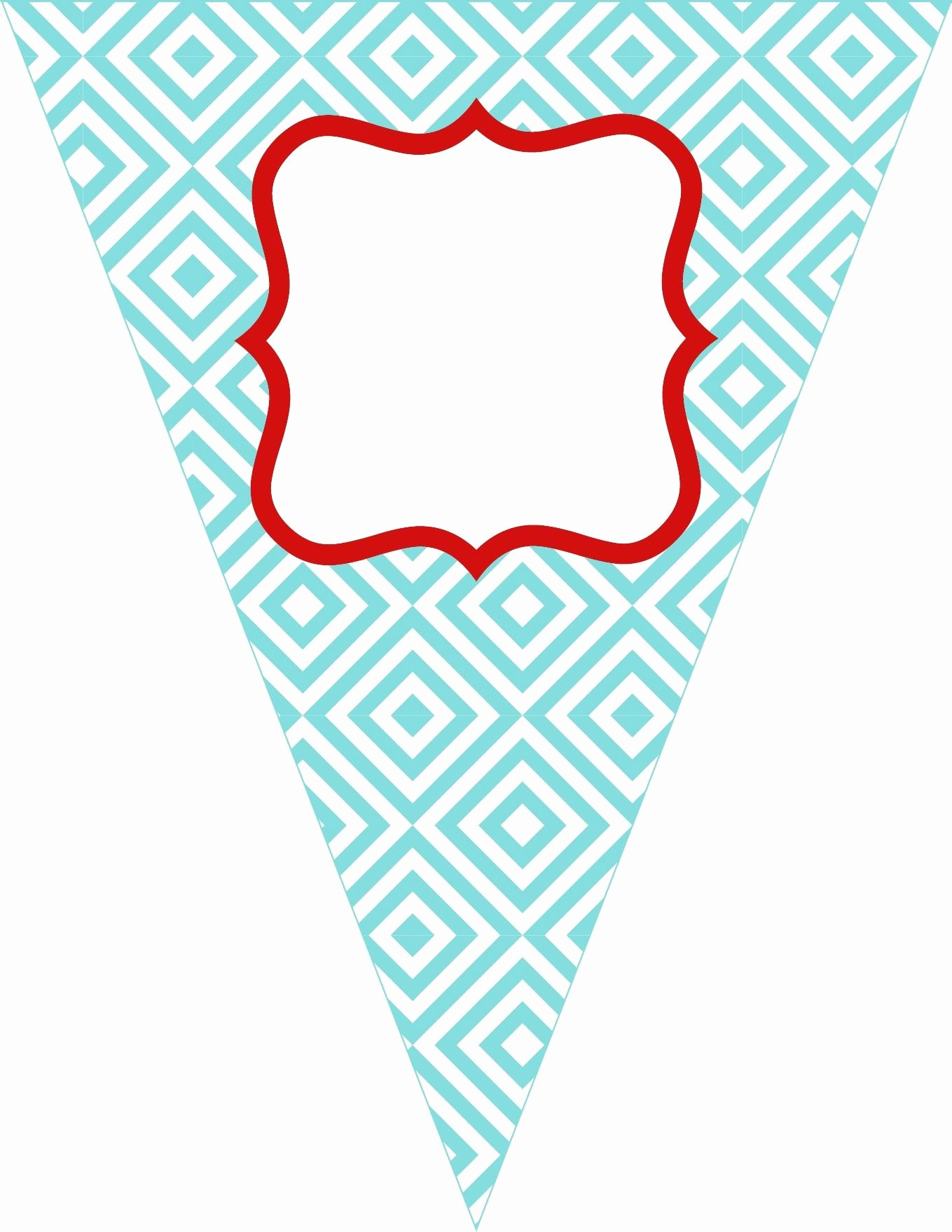 Printable Birthday Banner Template New Free Printable Bunting Love these Colors the Colors I