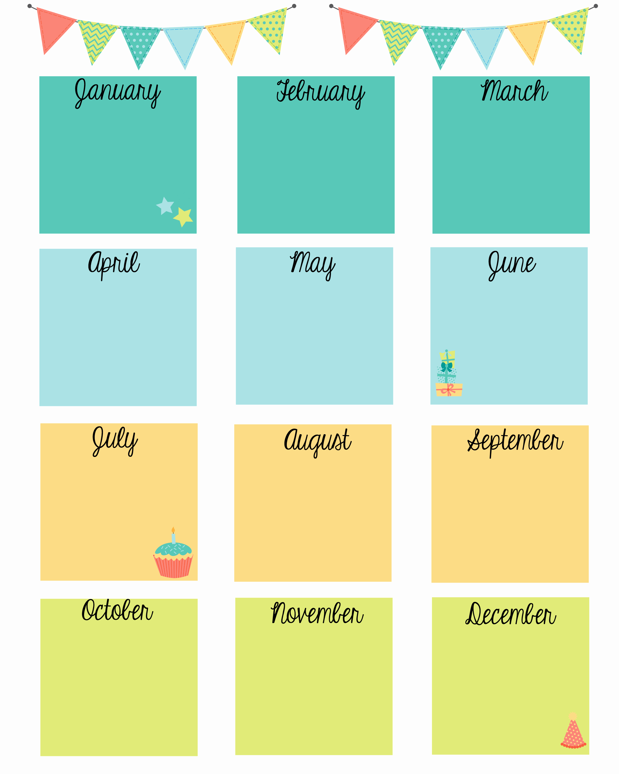 Printable Birthday Calendar Template Unique Keep In touch with Friends Birthday Printable