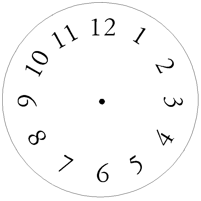 Printable Clock Face Template Awesome Free Craft Projects Clock