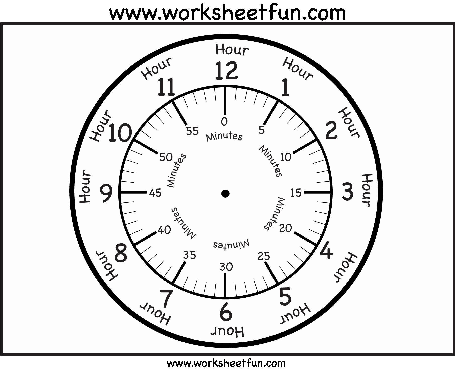 Printable Clock Face Template Elegant Best S Of Make A Clock Printable Build A Clock