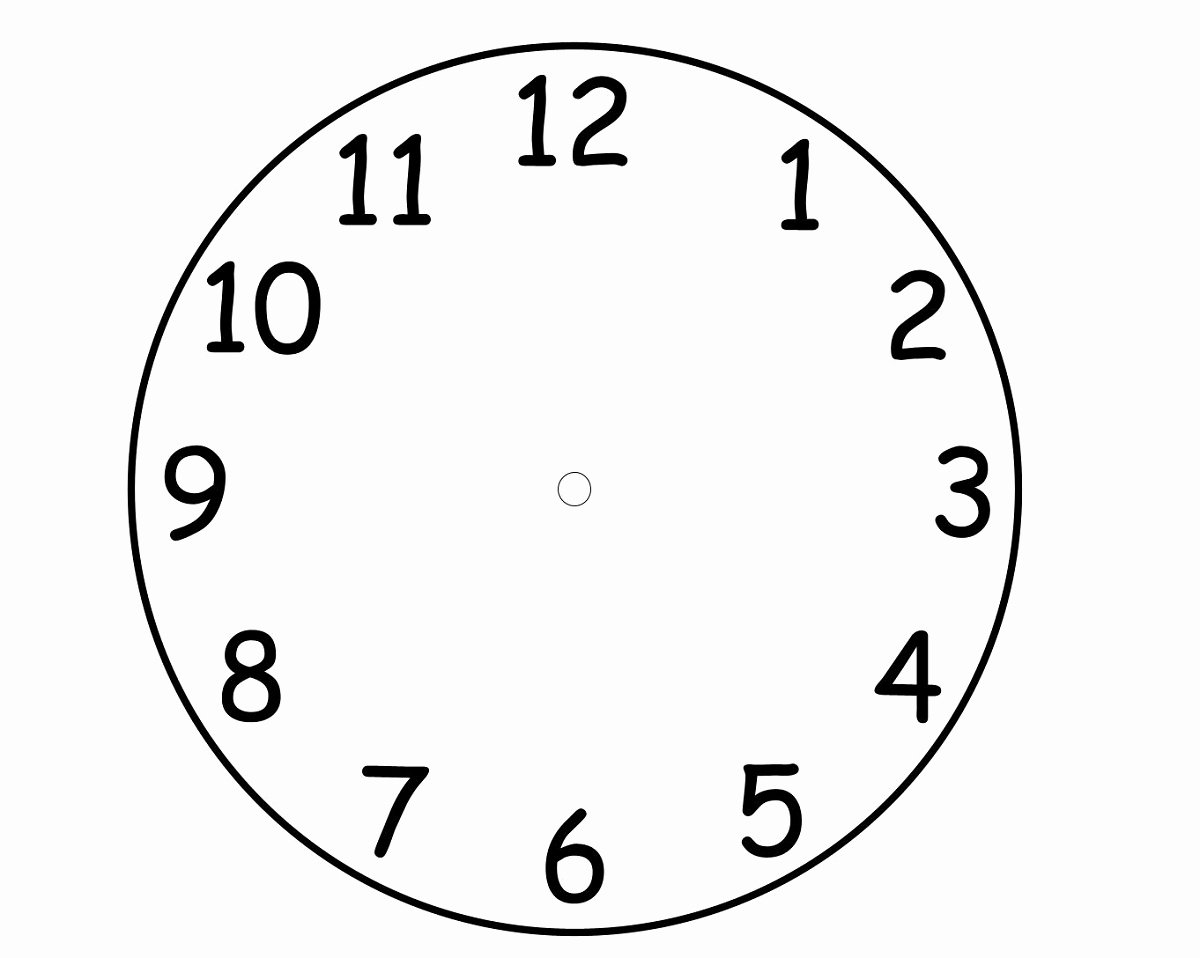 Printable Clock Face Template Fresh Blank Clock Faces Templates