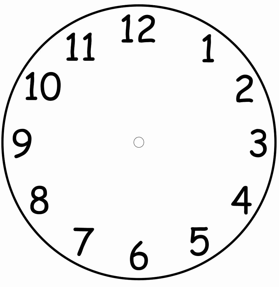 Printable Clock Face Template Fresh Printable Clock Face Templates