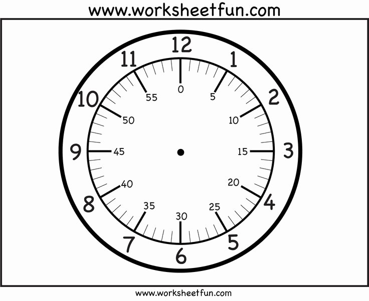 Printable Clock Face Template Inspirational Printable Clock Face