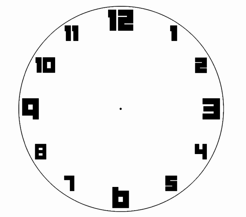 Printable Clock Face Template Lovely Blank Clock Templates for Teaching Time Clipart Library