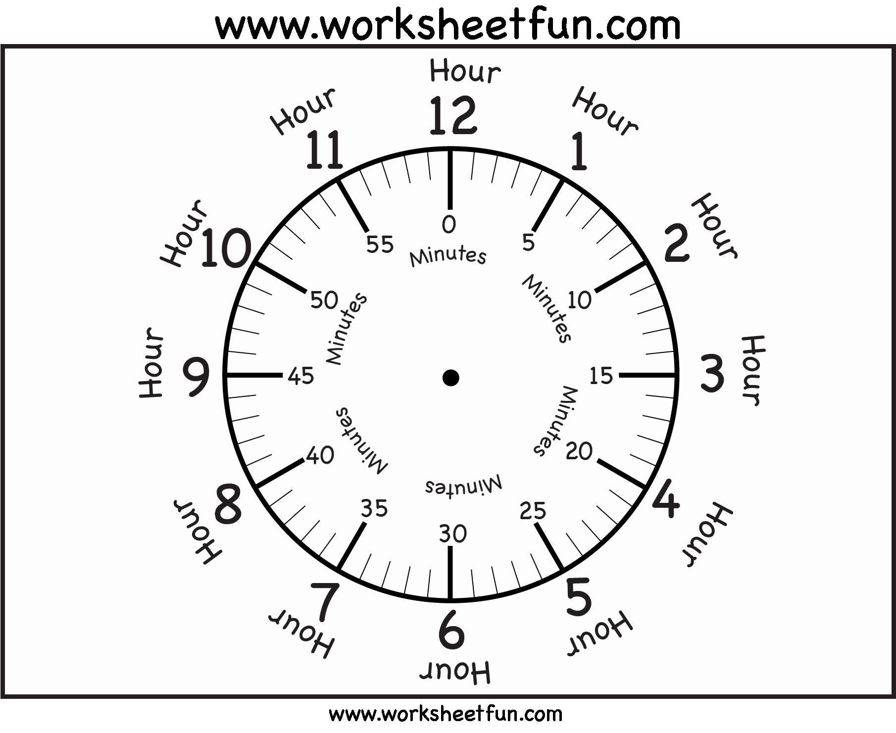Printable Clock Face Template Luxury Time – Printable Clock Face – 4 Worksheets Free