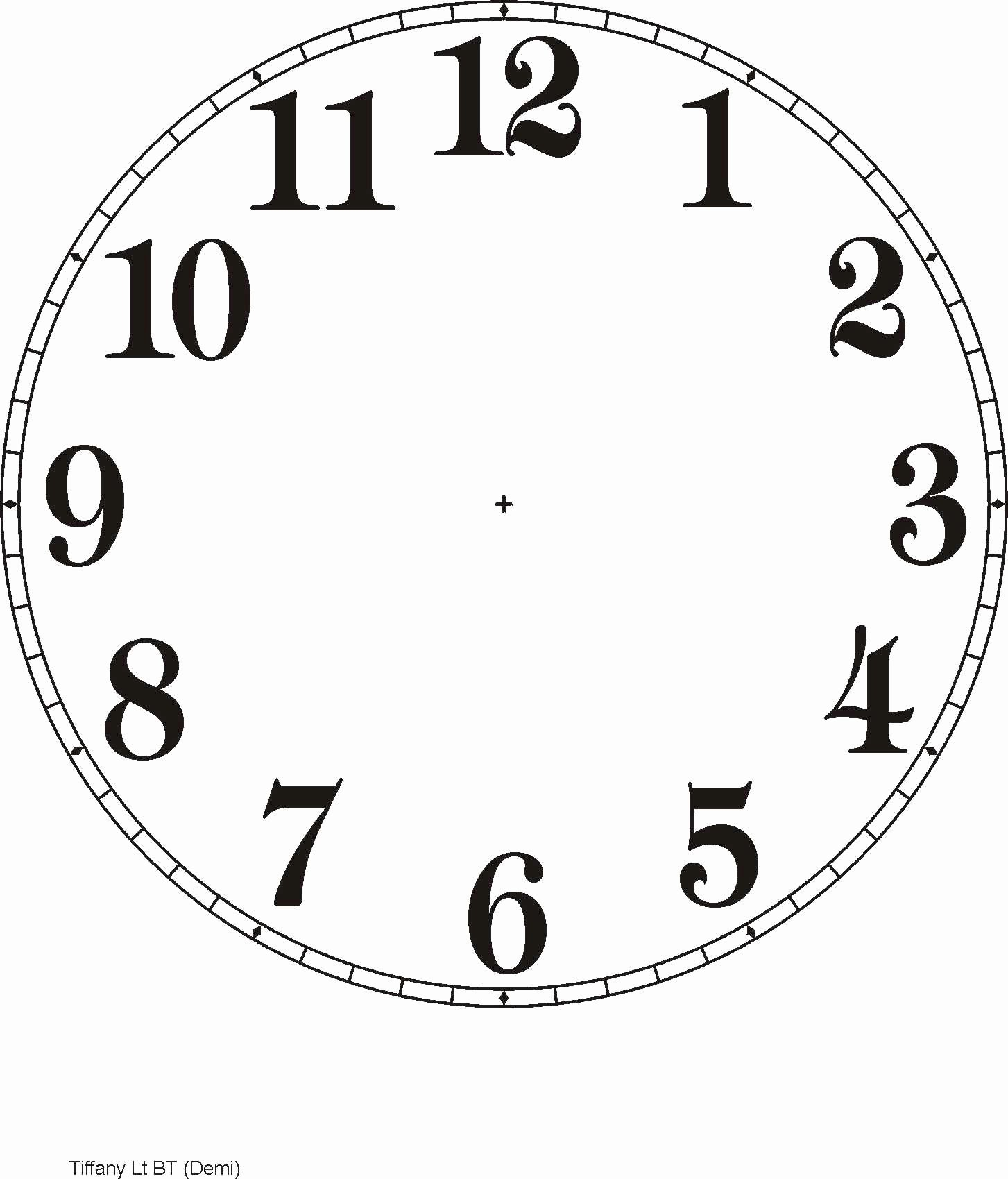Printable Clock Face Template New Free Clock Dials