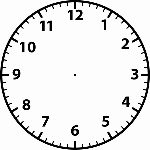 Printable Clock Face Template Unique Best 25 Blank Clock Ideas On Pinterest