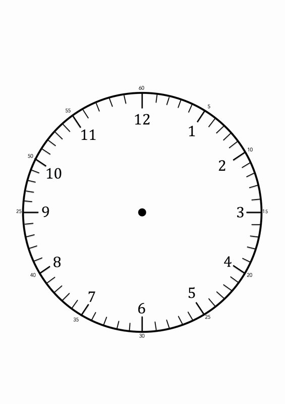 Printable Clock Face Template Unique Clock Faces for Use In Learning to Tell the Time