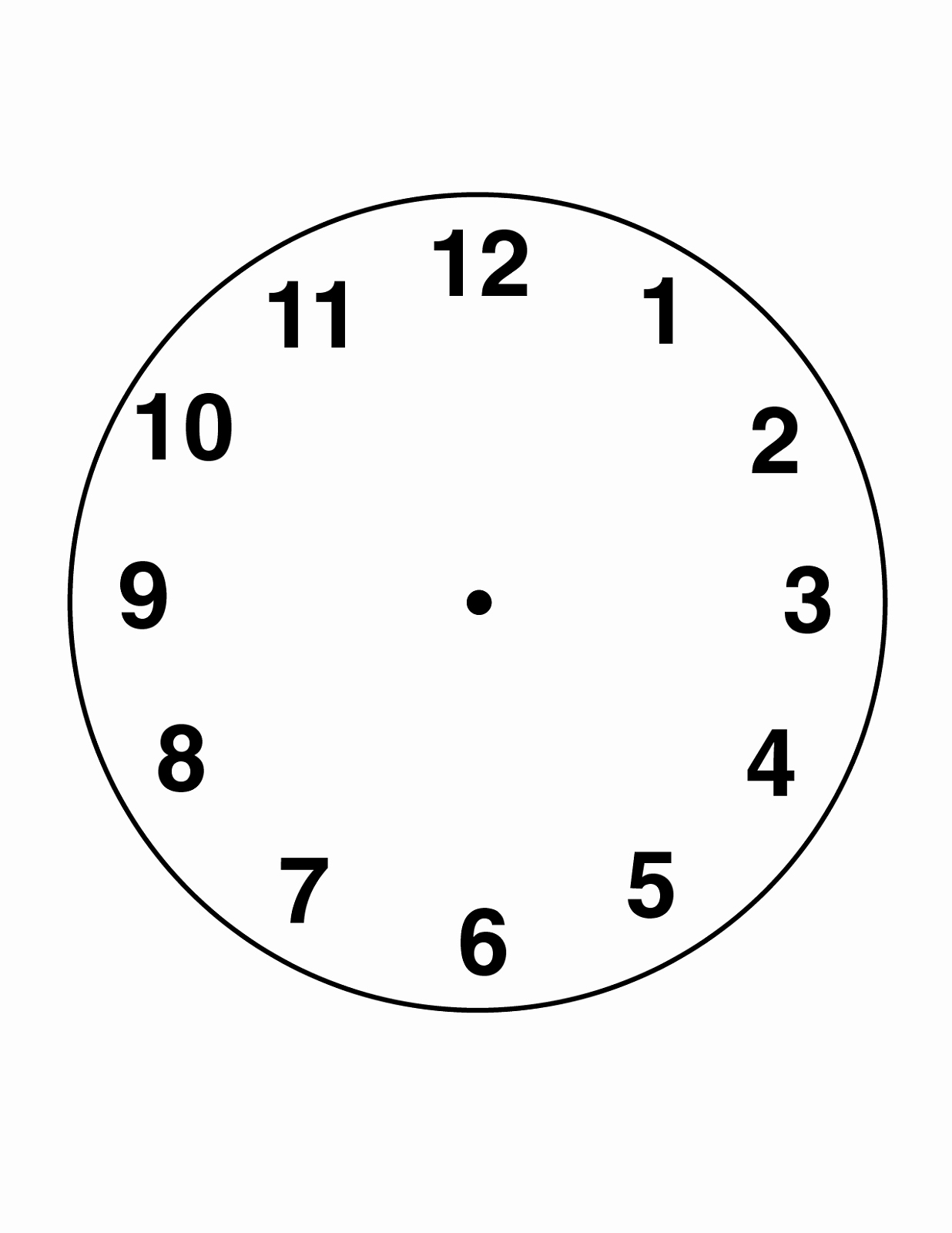 Printable Clock Face Template Unique Free Blank Clock Faces Worksheets