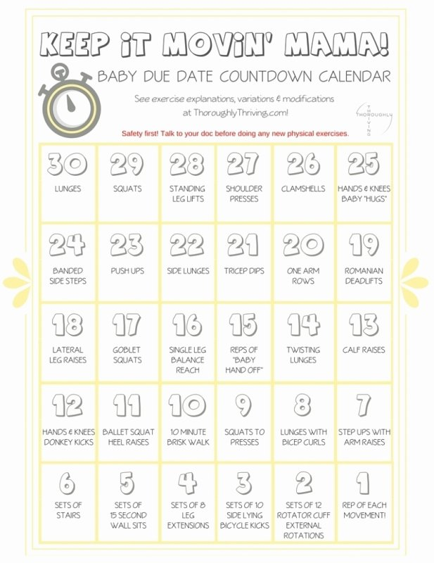 pregnancy countdown calendar printable