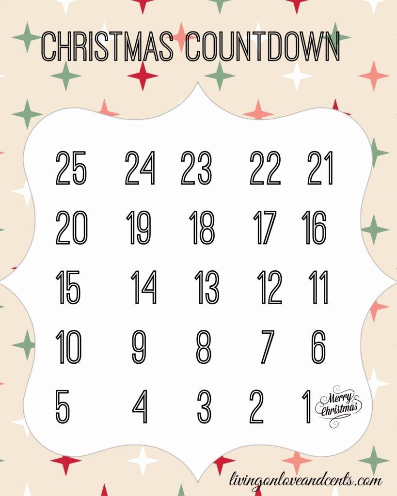 Printable Countdown Calendar Template Awesome Print Blank Calendars