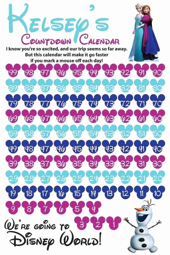 Printable Countdown Calendar Template Elegant 10 Fun Printable Disney Countdown Calendars