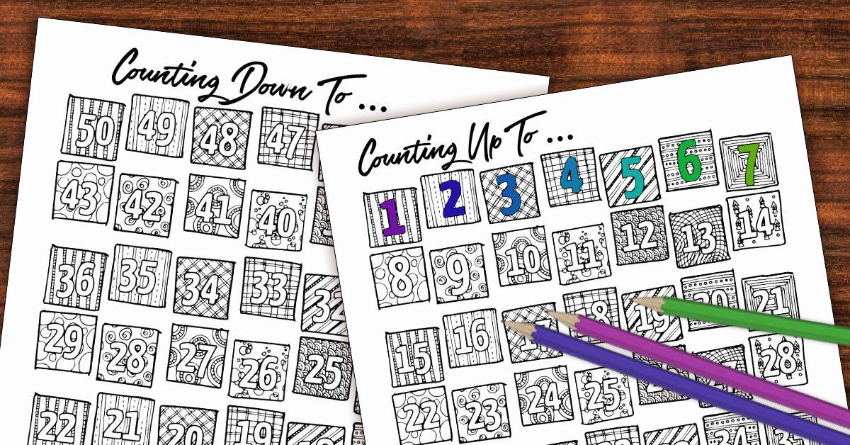 Printable Countdown Calendar Template Inspirational Printable Countdown Calendar and Progress Tracker – Color