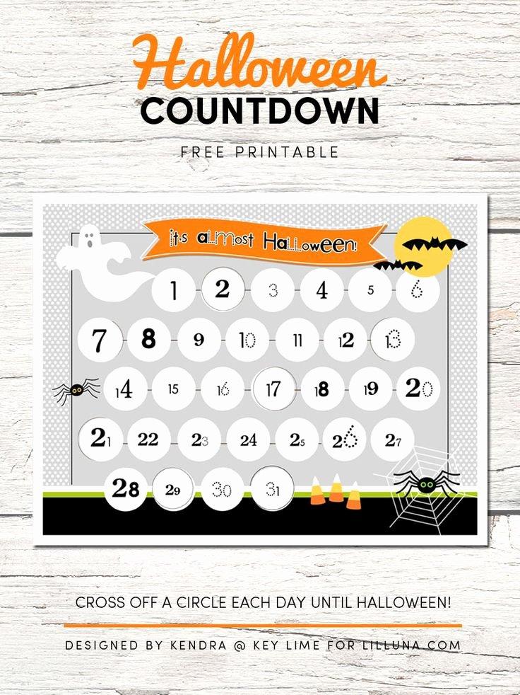 Printable Countdown Calendar Template Luxury Best 25 Halloween Countdown Ideas On Pinterest