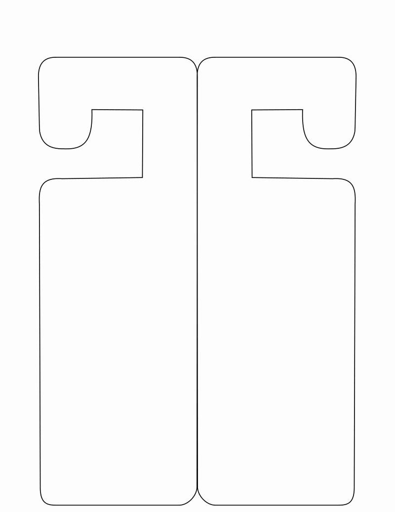 Printable Door Hanger Template Beautiful Door Hanger Template