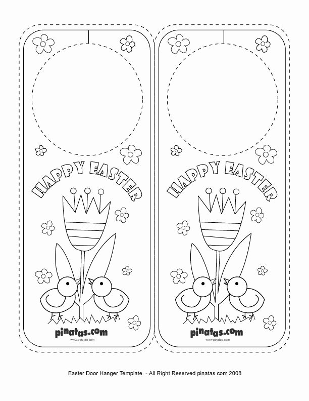 Printable Door Hanger Template Elegant Easter Party Crafts Easter Door Hanger Free Printable