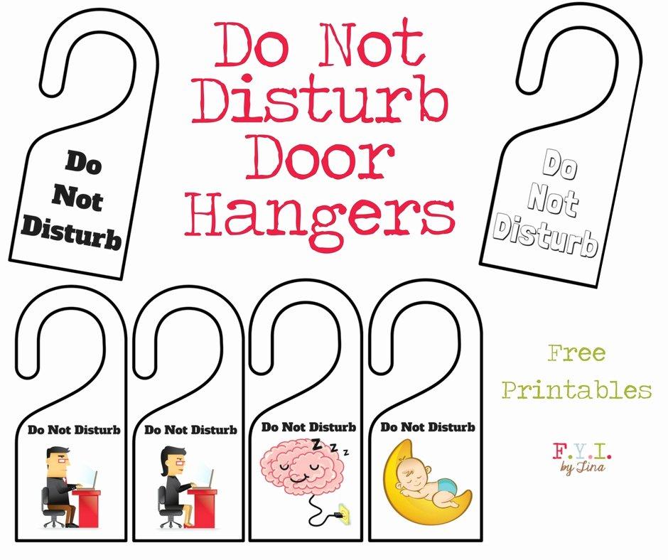 Printable Door Hanger Template Fresh Do Not Disturb Door Hanger Free Printable • Fyi by Tina