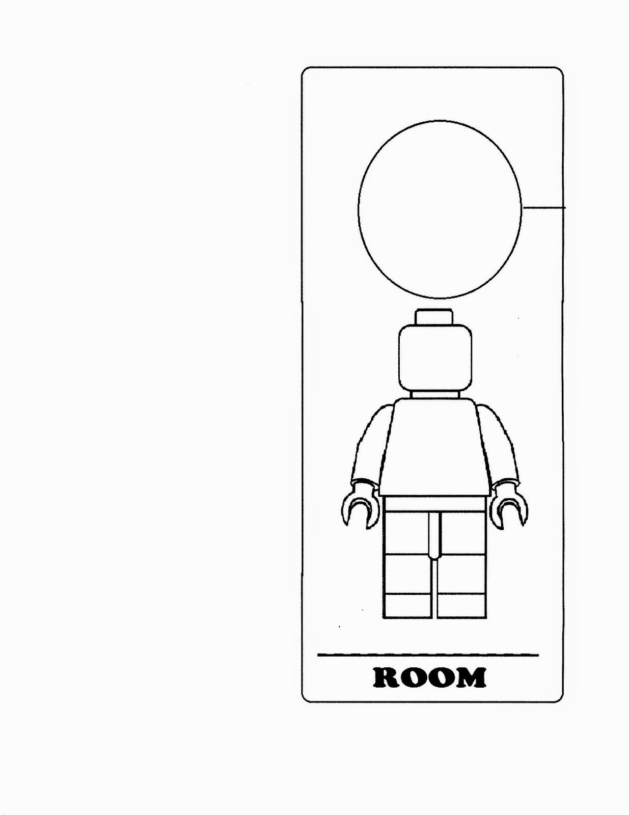Printable Door Hanger Template Fresh Lego Door Hanger Crafts with Cathy Thinking Out Loud