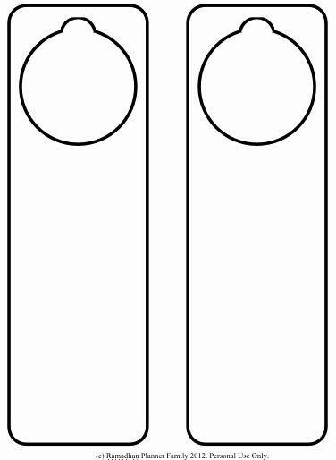Printable Door Hanger Template Inspirational Printable Door Hangers Best Printable Ideas