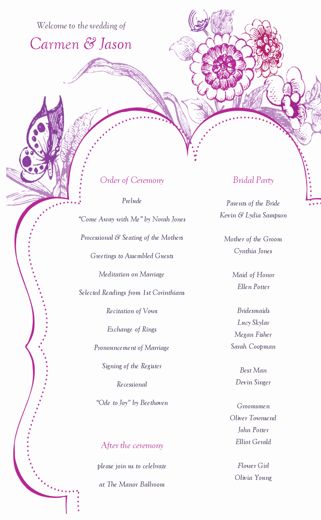 Printable event Program Template Awesome 8 Best Of Printable Wedding Program Templates
