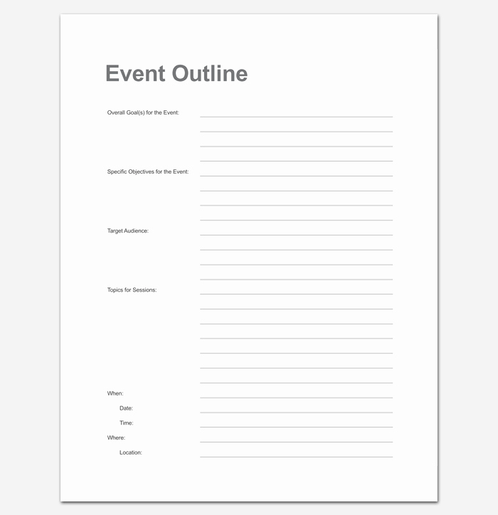 Printable event Program Template Awesome event Program Outline 13 Printable Samples Examples
