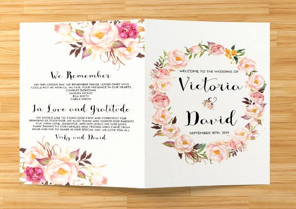 Printable event Program Template Inspirational 8 Wedding event Program Templates Psd Vector Eps Ai