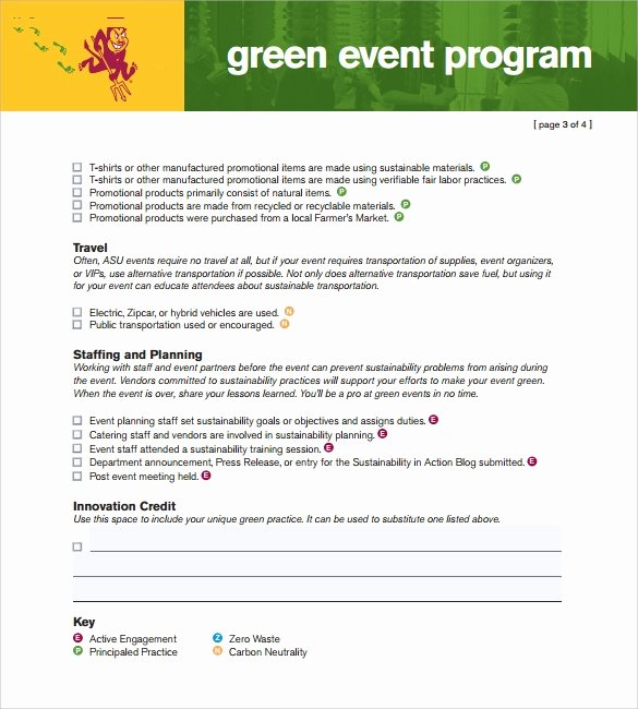 Printable event Program Template Lovely event Program Template