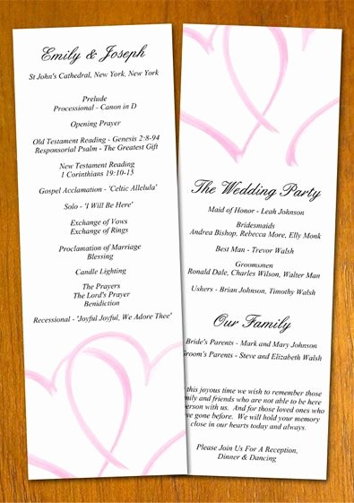 Printable event Program Template Luxury Free Wedding Program Templates
