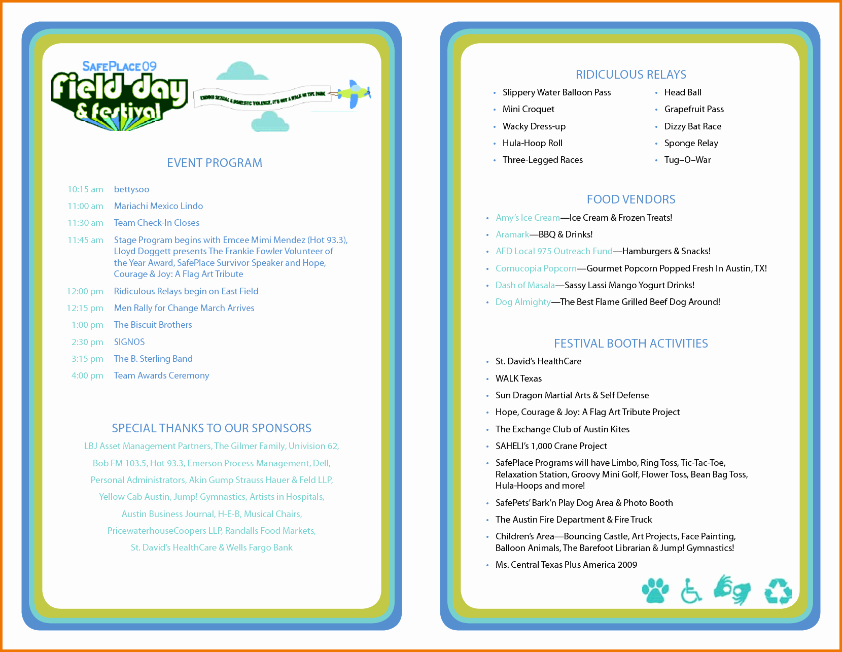 Printable event Program Template New event Program Template