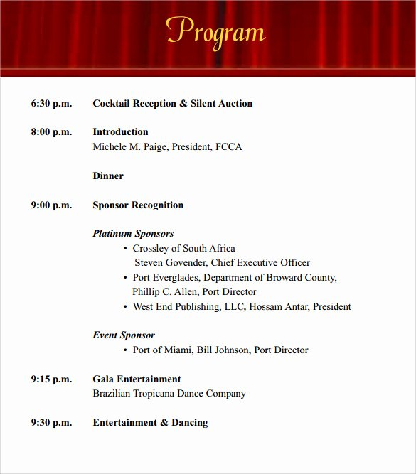Printable event Program Template Unique 38 event Program Templates Pdf Doc