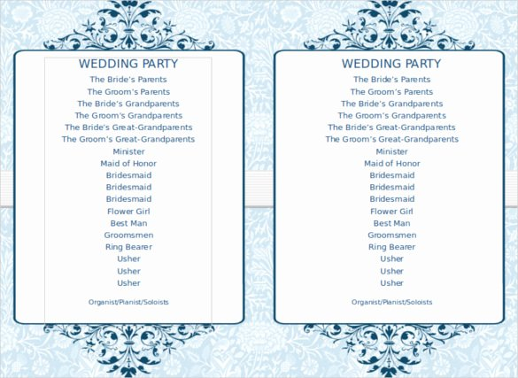 Printable event Program Template Unique Wedding Program Template 41 Free Word Pdf Psd