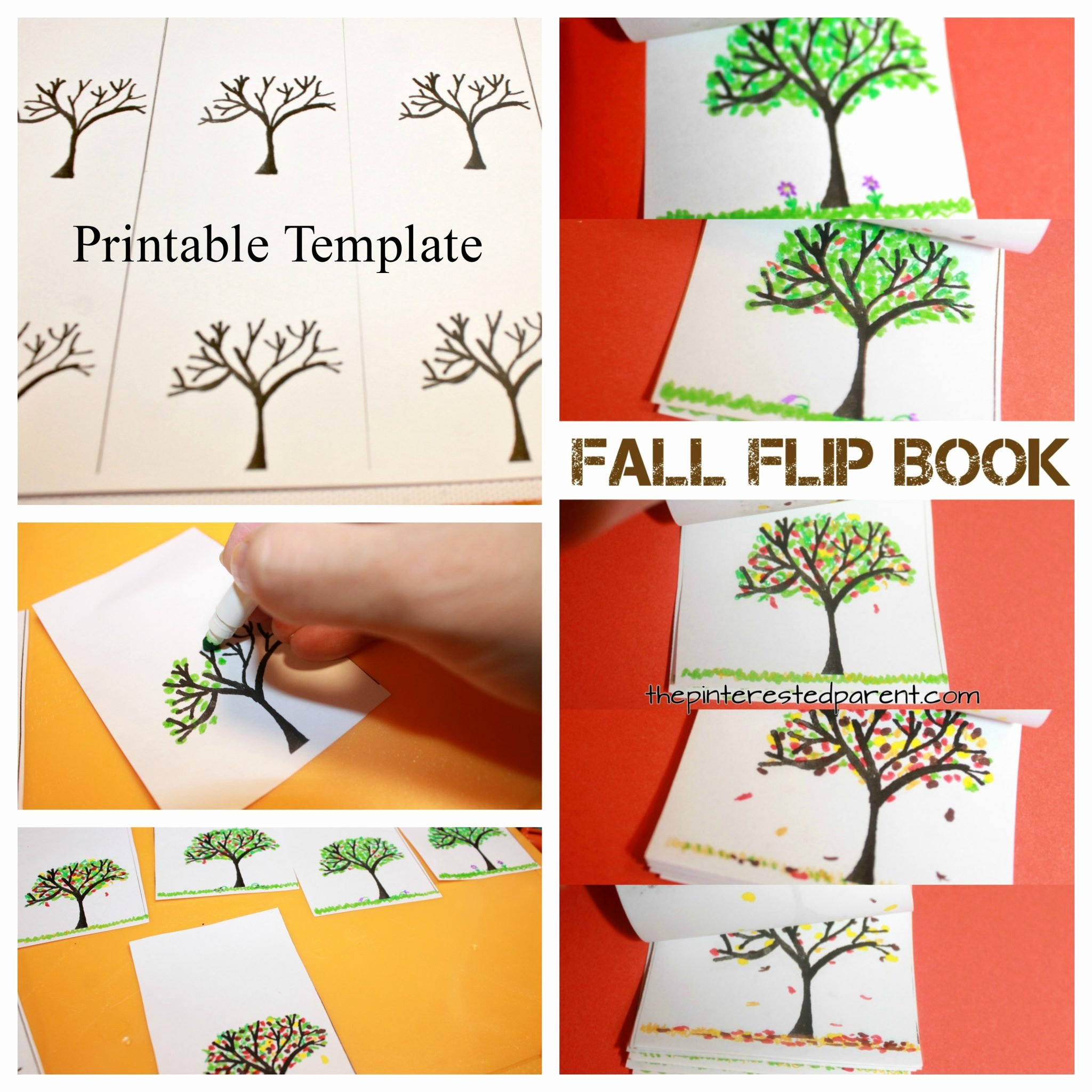 Printable Flip Book Template Elegant Fall Tree Flip Book – the Pinterested Parent