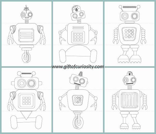 Printable Flip Book Template Elegant Flip A Robot Free Printable Activity Book Gift Of