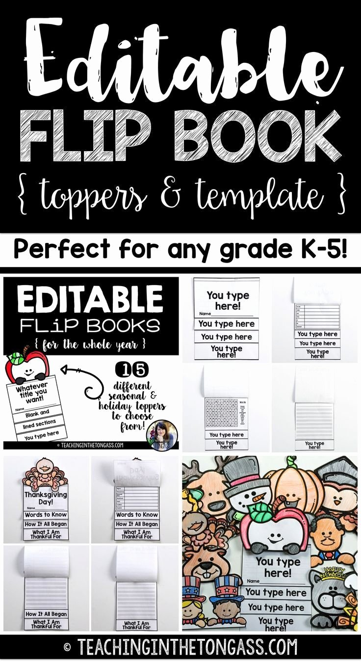 Printable Flip Book Template New Editable Flip Book Template Bundle