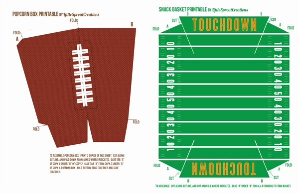 Printable Football Field Template Beautiful Creative Party Ideas by Cheryl the Best Football Party