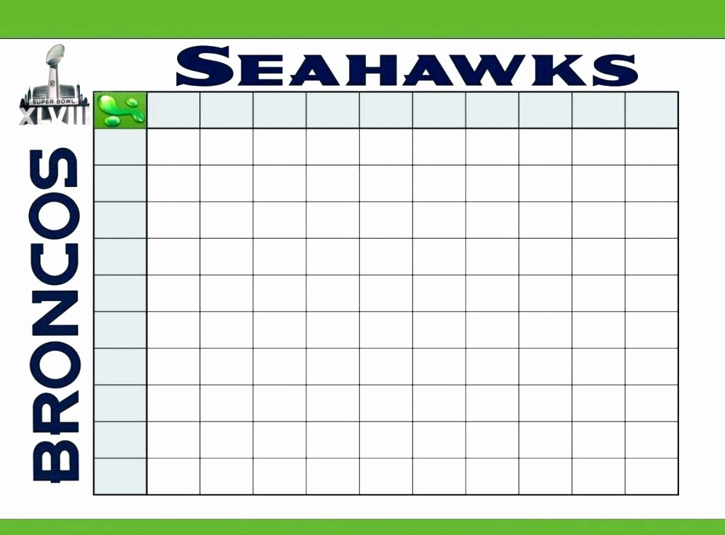 Printable Football Field Template Inspirational Football Squares Template Free Board Printable Pool