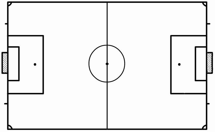 Printable Football Field Template Luxury Blank soccer Field Clipart Best