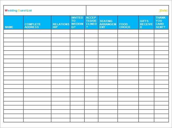 Printable Guest List Template Elegant All Categories Avatarpiratebay