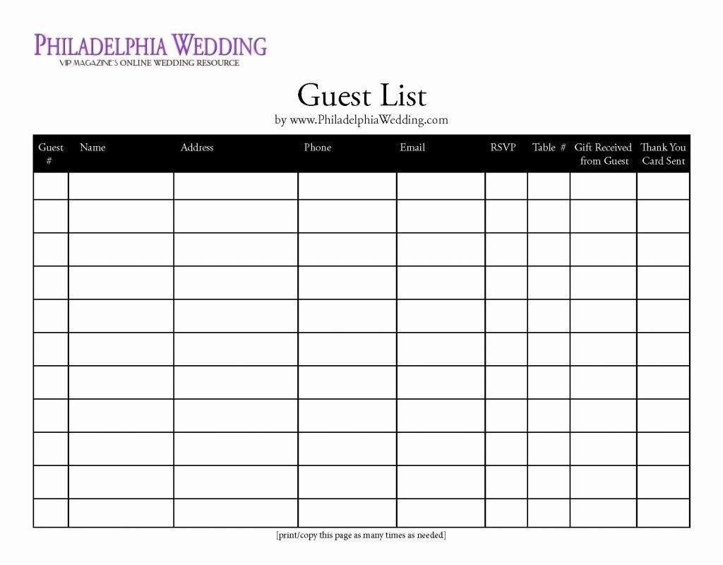 post guest list sheet