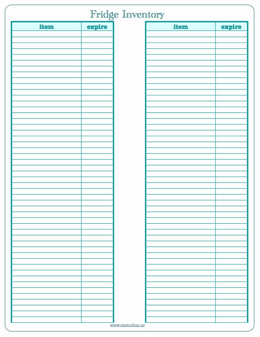 Printable Inventory List Template Beautiful Sk Studios Homemaking 10 2011