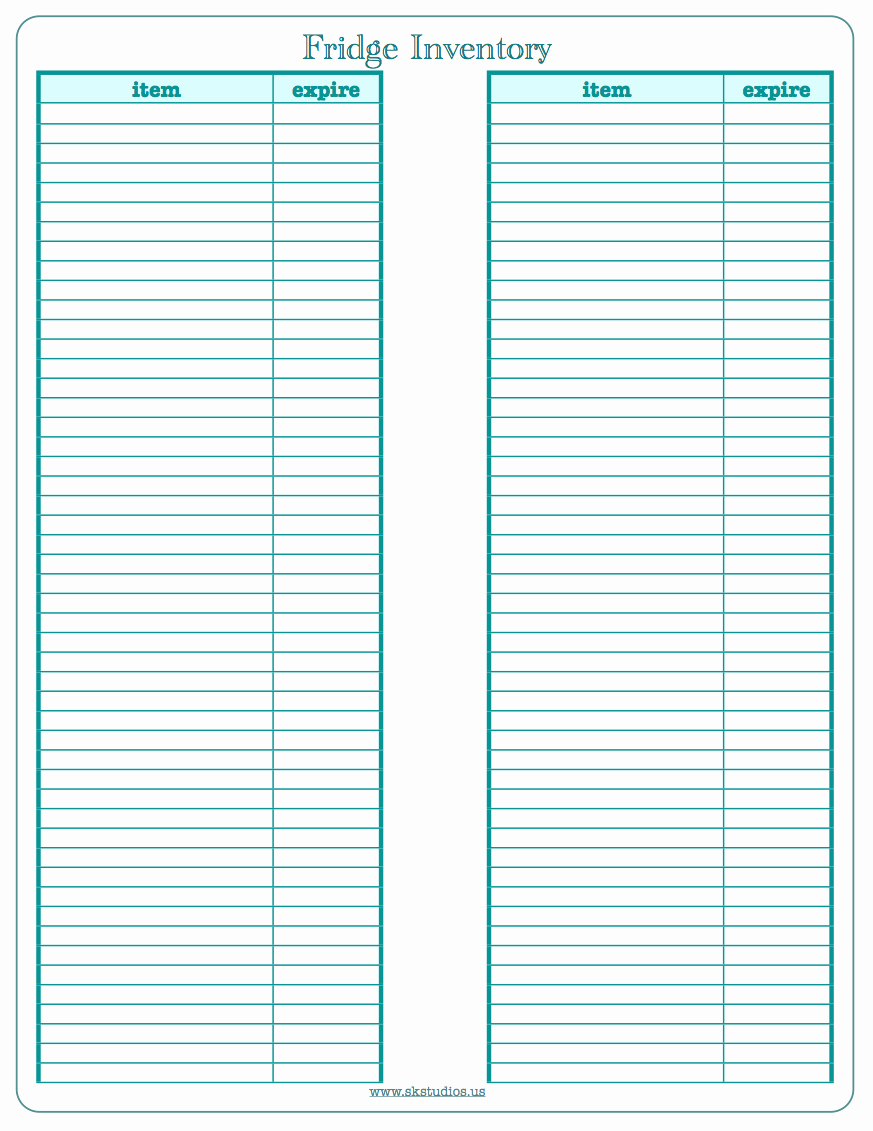 Printable Inventory List Template Luxury Free Printable Inventory Templates