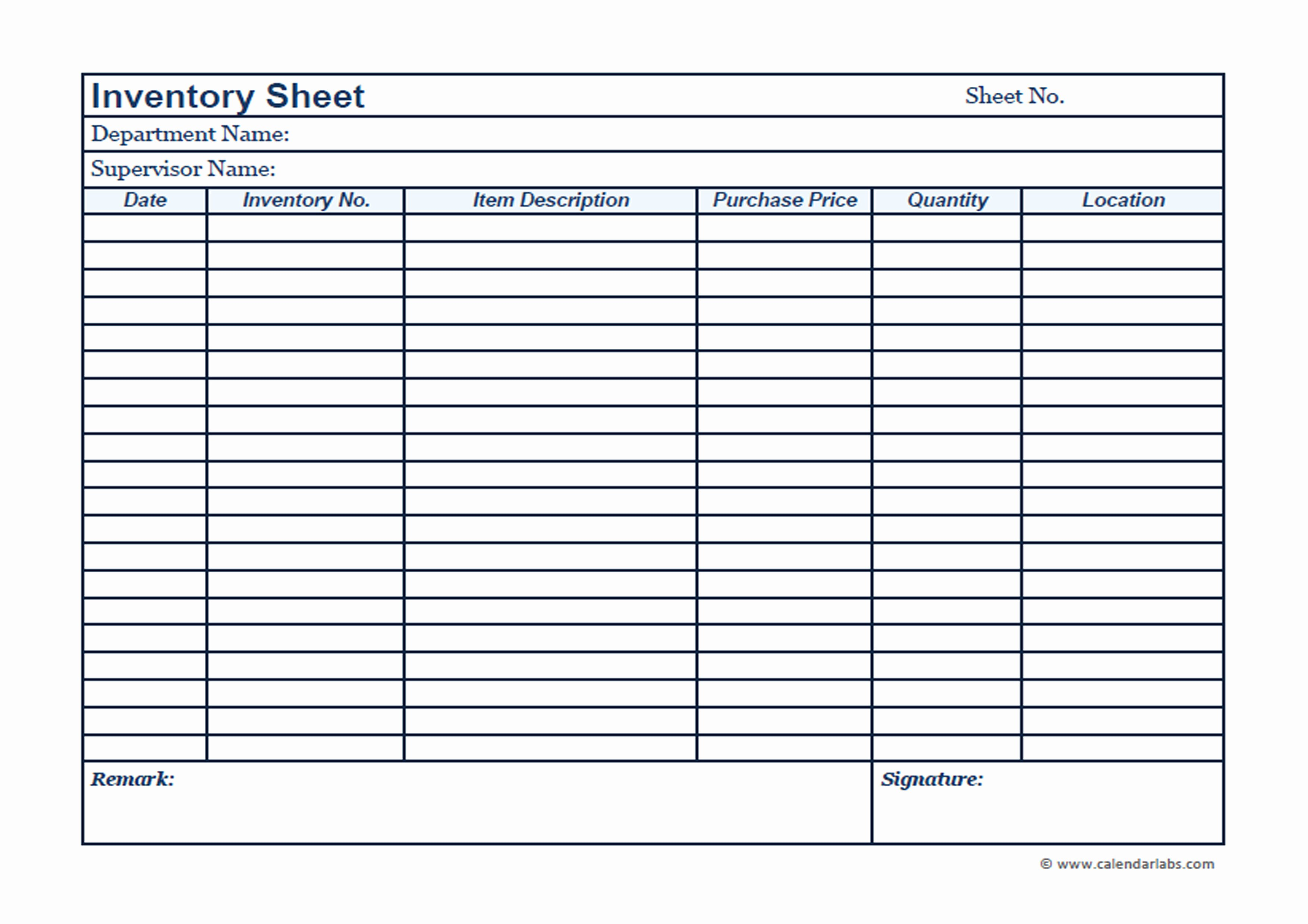 Printable Inventory List Template New Business Inventory Template Free Printable Templates
