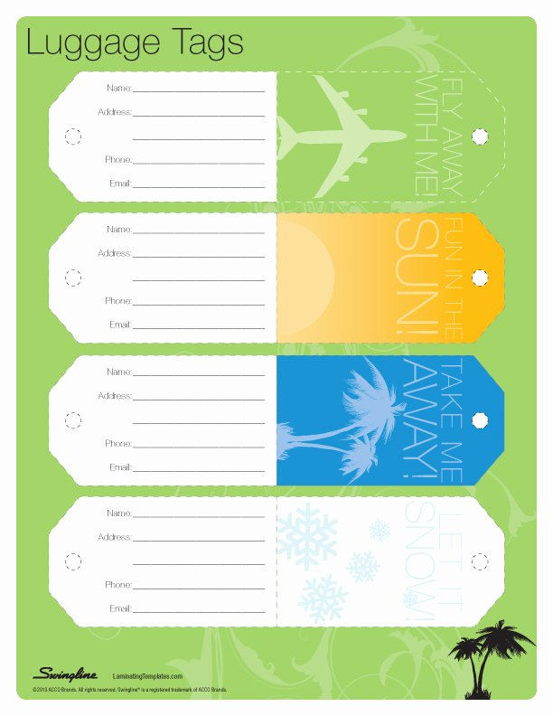 Printable Luggage Tags Template Awesome 7 Best Of Vintage Luggage Tags Template Free