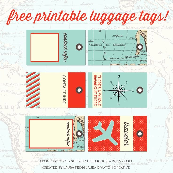 Printable Luggage Tags Template Best Of 33 Best Images About Printable